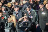 March Past, Remembrance Sunday at the Cenotaph 2016: F01 Blind Veterans UK. Cenotaph, Whitehall, London SW1, London, Greater London, United Kingdom, on 13 November 2016 at 12:58, image #1222