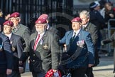 March Past, Remembrance Sunday at the Cenotaph 2016: D01 The Parachute Regimental Association. Cenotaph, Whitehall, London SW1, London, Greater London, United Kingdom, on 13 November 2016 at 12:58, image #1249