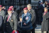 March Past, Remembrance Sunday at the Cenotaph 2016: D01 The Parachute Regimental Association. Cenotaph, Whitehall, London SW1, London, Greater London, United Kingdom, on 13 November 2016 at 12:58, image #1250