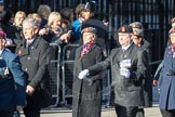 March Past, Remembrance Sunday at the Cenotaph 2016: D02 QARANC Association. Cenotaph, Whitehall, London SW1, London, Greater London, United Kingdom, on 13 November 2016 at 12:58, image #1251