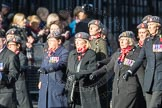 March Past, Remembrance Sunday at the Cenotaph 2016: D02 QARANC Association. Cenotaph, Whitehall, London SW1, London, Greater London, United Kingdom, on 13 November 2016 at 12:58, image #1254