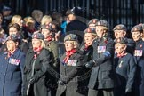 March Past, Remembrance Sunday at the Cenotaph 2016: D02 QARANC Association. Cenotaph, Whitehall, London SW1, London, Greater London, United Kingdom, on 13 November 2016 at 12:58, image #1255