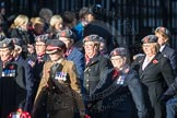 March Past, Remembrance Sunday at the Cenotaph 2016: D02 QARANC Association. Cenotaph, Whitehall, London SW1, London, Greater London, United Kingdom, on 13 November 2016 at 12:58, image #1259