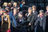 March Past, Remembrance Sunday at the Cenotaph 2016: D02 QARANC Association. Cenotaph, Whitehall, London SW1, London, Greater London, United Kingdom, on 13 November 2016 at 12:58, image #1260