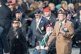 March Past, Remembrance Sunday at the Cenotaph 2016: D08 Army Dog Unit Northern Ireland Association. Cenotaph, Whitehall, London SW1, London, Greater London, United Kingdom, on 13 November 2016 at 12:59, image #1322