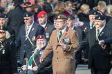 March Past, Remembrance Sunday at the Cenotaph 2016: D08 Army Dog Unit Northern Ireland Association. Cenotaph, Whitehall, London SW1, London, Greater London, United Kingdom, on 13 November 2016 at 12:59, image #1324