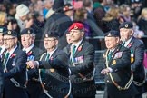 March Past, Remembrance Sunday at the Cenotaph 2016: D08 Army Dog Unit Northern Ireland Association. Cenotaph, Whitehall, London SW1, London, Greater London, United Kingdom, on 13 November 2016 at 13:00, image #1330