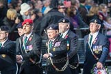March Past, Remembrance Sunday at the Cenotaph 2016: D08 Army Dog Unit Northern Ireland Association. Cenotaph, Whitehall, London SW1, London, Greater London, United Kingdom, on 13 November 2016 at 13:00, image #1331