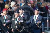 March Past, Remembrance Sunday at the Cenotaph 2016: D08 Army Dog Unit Northern Ireland Association. Cenotaph, Whitehall, London SW1, London, Greater London, United Kingdom, on 13 November 2016 at 13:00, image #1332