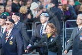 March Past, Remembrance Sunday at the Cenotaph 2016: D10 South Atlantic Medal Association. Cenotaph, Whitehall, London SW1, London, Greater London, United Kingdom, on 13 November 2016 at 13:00, image #1338