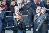 March Past, Remembrance Sunday at the Cenotaph 2016: D10 South Atlantic Medal Association. Cenotaph, Whitehall, London SW1, London, Greater London, United Kingdom, on 13 November 2016 at 13:00, image #1339