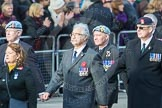 March Past, Remembrance Sunday at the Cenotaph 2016: D10 South Atlantic Medal Association. Cenotaph, Whitehall, London SW1, London, Greater London, United Kingdom, on 13 November 2016 at 13:00, image #1340
