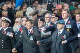 March Past, Remembrance Sunday at the Cenotaph 2016: D10 South Atlantic Medal Association. Cenotaph, Whitehall, London SW1, London, Greater London, United Kingdom, on 13 November 2016 at 13:00, image #1346