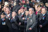 March Past, Remembrance Sunday at the Cenotaph 2016: D10 South Atlantic Medal Association. Cenotaph, Whitehall, London SW1, London, Greater London, United Kingdom, on 13 November 2016 at 13:00, image #1367