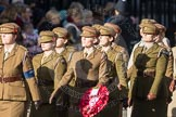 March Past, Remembrance Sunday at the Cenotaph 2016: D12 First Aid Nursing Yeomanry (Princess Royal's Volunteers Corps). Cenotaph, Whitehall, London SW1, London, Greater London, United Kingdom, on 13 November 2016 at 13:00, image #1397