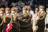 March Past, Remembrance Sunday at the Cenotaph 2016: D12 First Aid Nursing Yeomanry (Princess Royal's Volunteers Corps). Cenotaph, Whitehall, London SW1, London, Greater London, United Kingdom, on 13 November 2016 at 13:00, image #1399