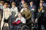 March Past, Remembrance Sunday at the Cenotaph 2016: D13 Association of Jewish Ex-Servicemen & Women. Cenotaph, Whitehall, London SW1, London, Greater London, United Kingdom, on 13 November 2016 at 13:01, image #1405
