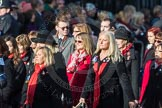 March Past, Remembrance Sunday at the Cenotaph 2016: D15 Army Widows Association. Cenotaph, Whitehall, London SW1, London, Greater London, United Kingdom, on 13 November 2016 at 13:01, image #1441