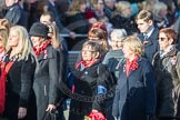 March Past, Remembrance Sunday at the Cenotaph 2016: D16 RAF WIDOWS ASSOCIATION. Cenotaph, Whitehall, London SW1, London, Greater London, United Kingdom, on 13 November 2016 at 13:01, image #1444