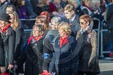 March Past, Remembrance Sunday at the Cenotaph 2016: D16 RAF WIDOWS ASSOCIATION. Cenotaph, Whitehall, London SW1, London, Greater London, United Kingdom, on 13 November 2016 at 13:01, image #1445