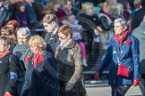 March Past, Remembrance Sunday at the Cenotaph 2016: D17 Royal Navy and Royal Marines Widows Association. Cenotaph, Whitehall, London SW1, London, Greater London, United Kingdom, on 13 November 2016 at 13:01, image #1447