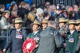 March Past, Remembrance Sunday at the Cenotaph 2016: D18 British Gurkha Welfare Society. Cenotaph, Whitehall, London SW1, London, Greater London, United Kingdom, on 13 November 2016 at 13:01, image #1451