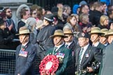 March Past, Remembrance Sunday at the Cenotaph 2016: D18 British Gurkha Welfare Society. Cenotaph, Whitehall, London SW1, London, Greater London, United Kingdom, on 13 November 2016 at 13:01, image #1452