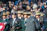 March Past, Remembrance Sunday at the Cenotaph 2016: D18 British Gurkha Welfare Society. Cenotaph, Whitehall, London SW1, London, Greater London, United Kingdom, on 13 November 2016 at 13:01, image #1453