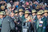 March Past, Remembrance Sunday at the Cenotaph 2016: D18 British Gurkha Welfare Society. Cenotaph, Whitehall, London SW1, London, Greater London, United Kingdom, on 13 November 2016 at 13:01, image #1454