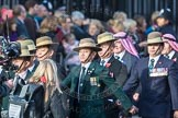 March Past, Remembrance Sunday at the Cenotaph 2016: D18 British Gurkha Welfare Society. Cenotaph, Whitehall, London SW1, London, Greater London, United Kingdom, on 13 November 2016 at 13:01, image #1455