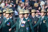 March Past, Remembrance Sunday at the Cenotaph 2016: D18 British Gurkha Welfare Society. Cenotaph, Whitehall, London SW1, London, Greater London, United Kingdom, on 13 November 2016 at 13:01, image #1456