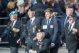 March Past, Remembrance Sunday at the Cenotaph 2016: D20 Bond Van Wapenbroeders 21 D21 Canadian Veterans Association. Cenotaph, Whitehall, London SW1, London, Greater London, United Kingdom, on 13 November 2016 at 13:01, image #1470