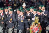 March Past, Remembrance Sunday at the Cenotaph 2016: E01 Royal Marines Association. Cenotaph, Whitehall, London SW1, London, Greater London, United Kingdom, on 13 November 2016 at 13:03, image #1575
