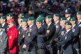 March Past, Remembrance Sunday at the Cenotaph 2016: E01 Royal Marines Association. Cenotaph, Whitehall, London SW1, London, Greater London, United Kingdom, on 13 November 2016 at 13:03, image #1580
