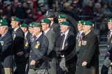 March Past, Remembrance Sunday at the Cenotaph 2016: E01 Royal Marines Association. Cenotaph, Whitehall, London SW1, London, Greater London, United Kingdom, on 13 November 2016 at 13:03, image #1583