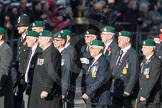 March Past, Remembrance Sunday at the Cenotaph 2016: E01 Royal Marines Association. Cenotaph, Whitehall, London SW1, London, Greater London, United Kingdom, on 13 November 2016 at 13:03, image #1585