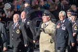 March Past, Remembrance Sunday at the Cenotaph 2016: E06 HMS Andromeda Association. Cenotaph, Whitehall, London SW1, London, Greater London, United Kingdom, on 13 November 2016 at 13:04, image #1672