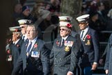 March Past, Remembrance Sunday at the Cenotaph 2016: E11 HMS St Vincent Association. Cenotaph, Whitehall, London SW1, London, Greater London, United Kingdom, on 13 November 2016 at 13:05, image #1723