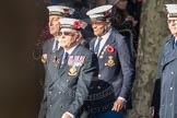 March Past, Remembrance Sunday at the Cenotaph 2016: E11 HMS St Vincent Association. Cenotaph, Whitehall, London SW1, London, Greater London, United Kingdom, on 13 November 2016 at 13:05, image #1724