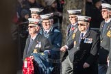 March Past, Remembrance Sunday at the Cenotaph 2016: E11 HMS St Vincent Association. Cenotaph, Whitehall, London SW1, London, Greater London, United Kingdom, on 13 November 2016 at 13:05, image #1725