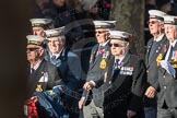 March Past, Remembrance Sunday at the Cenotaph 2016: E11 HMS St Vincent Association. Cenotaph, Whitehall, London SW1, London, Greater London, United Kingdom, on 13 November 2016 at 13:05, image #1726