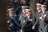 March Past, Remembrance Sunday at the Cenotaph 2016: E11 HMS St Vincent Association. Cenotaph, Whitehall, London SW1, London, Greater London, United Kingdom, on 13 November 2016 at 13:05, image #1727
