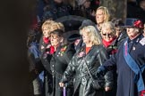 March Past, Remembrance Sunday at the Cenotaph 2016: E16 Queen Alexandra's Royal Naval Nursing Service. Cenotaph, Whitehall, London SW1, London, Greater London, United Kingdom, on 13 November 2016 at 13:05, image #1758