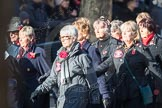 March Past, Remembrance Sunday at the Cenotaph 2016: E16 Queen Alexandra's Royal Naval Nursing Service. Cenotaph, Whitehall, London SW1, London, Greater London, United Kingdom, on 13 November 2016 at 13:05, image #1759