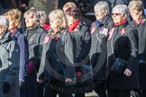 March Past, Remembrance Sunday at the Cenotaph 2016: E16 Queen Alexandra's Royal Naval Nursing Service. Cenotaph, Whitehall, London SW1, London, Greater London, United Kingdom, on 13 November 2016 at 13:05, image #1760