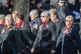 March Past, Remembrance Sunday at the Cenotaph 2016: E16 Queen Alexandra's Royal Naval Nursing Service. Cenotaph, Whitehall, London SW1, London, Greater London, United Kingdom, on 13 November 2016 at 13:05, image #1761