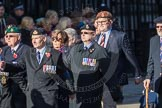 March Past, Remembrance Sunday at the Cenotaph 2016: E20 Royal Naval Medical Branch Ratings & Sick Berth Staff Association. Cenotaph, Whitehall, London SW1, London, Greater London, United Kingdom, on 13 November 2016 at 13:06, image #1812