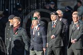 March Past, Remembrance Sunday at the Cenotaph 2016: E41 HMS Penelope Association. Cenotaph, Whitehall, London SW1, London, Greater London, United Kingdom, on 13 November 2016 at 13:08, image #2011