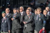 March Past, Remembrance Sunday at the Cenotaph 2016: E41 HMS Penelope Association. Cenotaph, Whitehall, London SW1, London, Greater London, United Kingdom, on 13 November 2016 at 13:08, image #2016