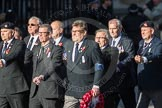 March Past, Remembrance Sunday at the Cenotaph 2016: E41 HMS Penelope Association. Cenotaph, Whitehall, London SW1, London, Greater London, United Kingdom, on 13 November 2016 at 13:08, image #2018